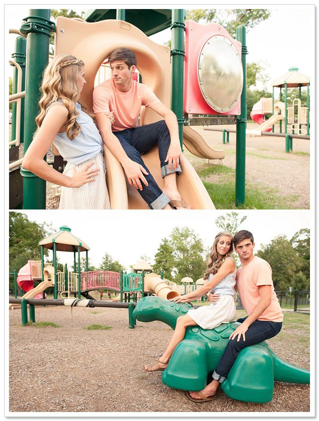 Playground Engagement Session by Adam + Alli Photography on BorrowedandBleu.com