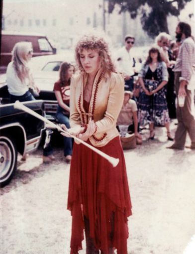Los Angeles Coliseum, Stevie Nicks, October 4, 1980. Fleetwood Mac showed up to thank the USC band for playing with them on their Tusk LP and in a concert