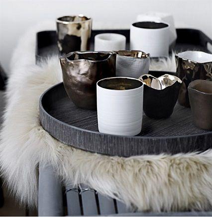 Mix media // home decor// white black metallic // Bloomingville autumn/winter 2013