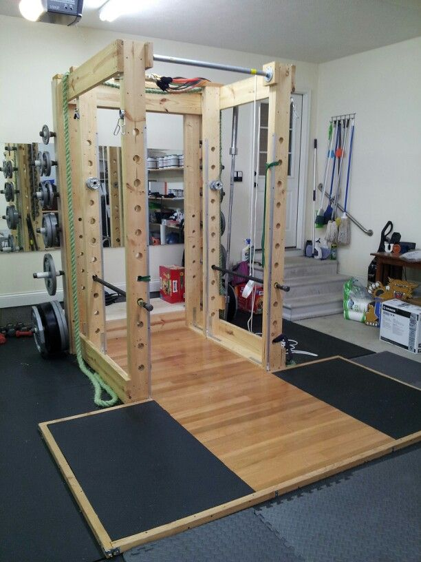 Squat rack with lifting platform homemade exercise equipment pinterest awesome home and nice - Images of home gyms ...