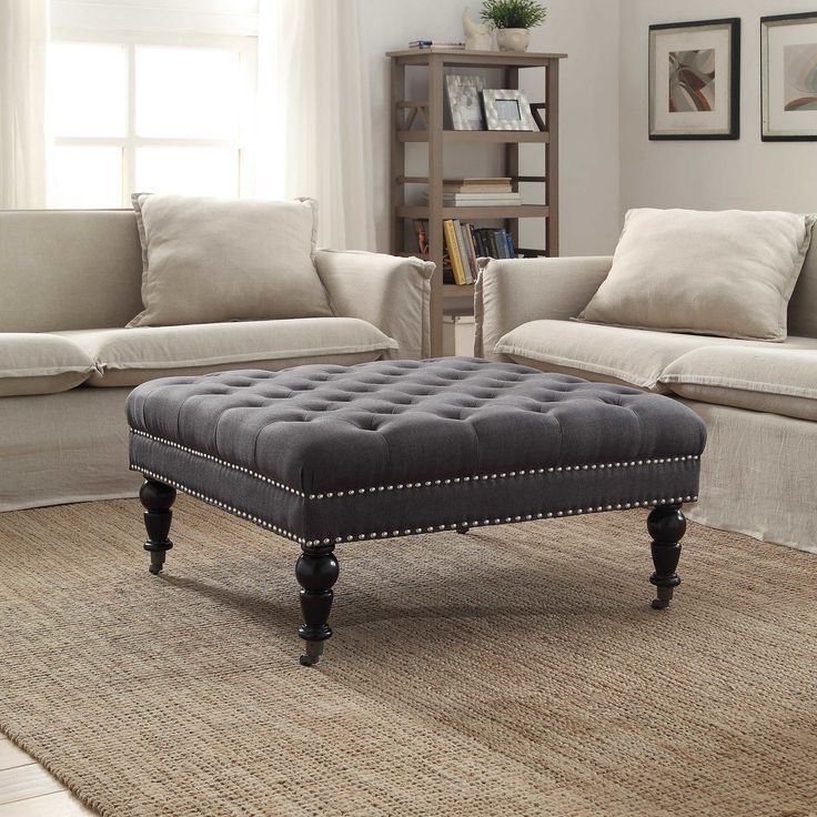 Coffee Table Ottoman Large Tufted