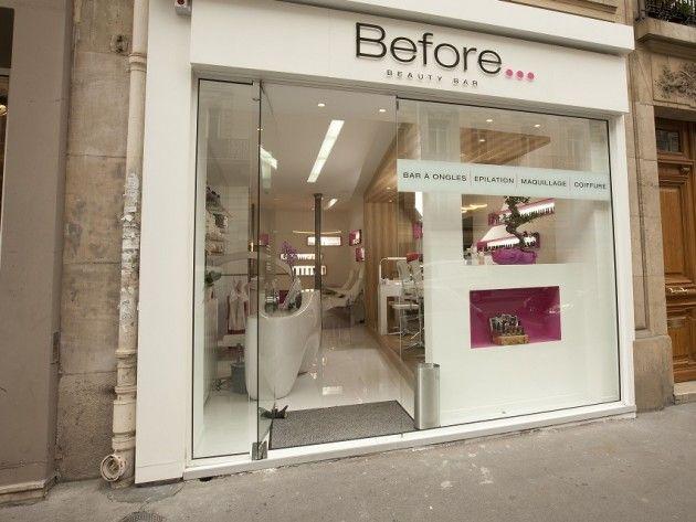 Devanture salon de beauté Before Beauty Bar