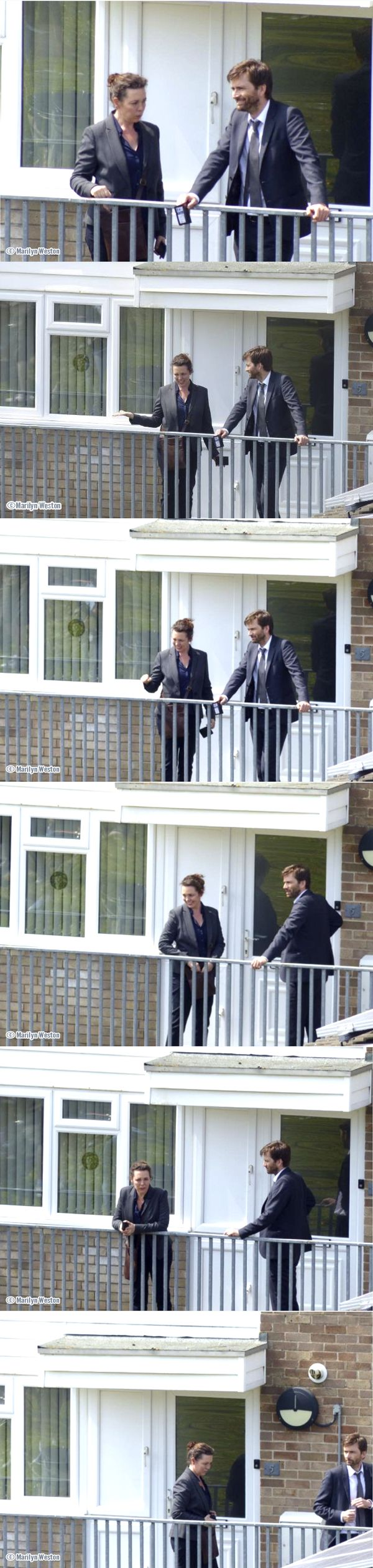 #Broadchurch 3 Filming — Miller and Hardy are pictured by a local resident filming around Redcliffe Bay, Portishead, Bristol on 7 June 2016. Looks like someone's been 'officially' reinstated with his ID card! :) Photos: ©Marilyn Weston