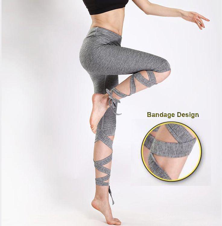 2017 Outdoor Women Sports Running Tights Sexy Yoga Pants Female High Elastic Fitness Slim Leggings Quick Dry Running Capri pants