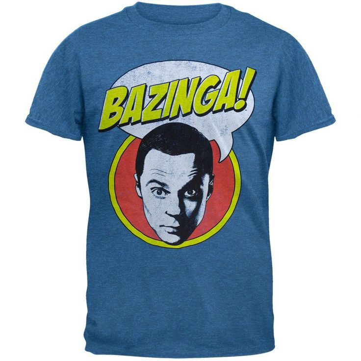 Big Bang Theory - Sheldon Bazinga Bubble Soft T-Shirt