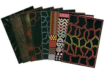 Indigenous Australian Papers for use in art & craft projects