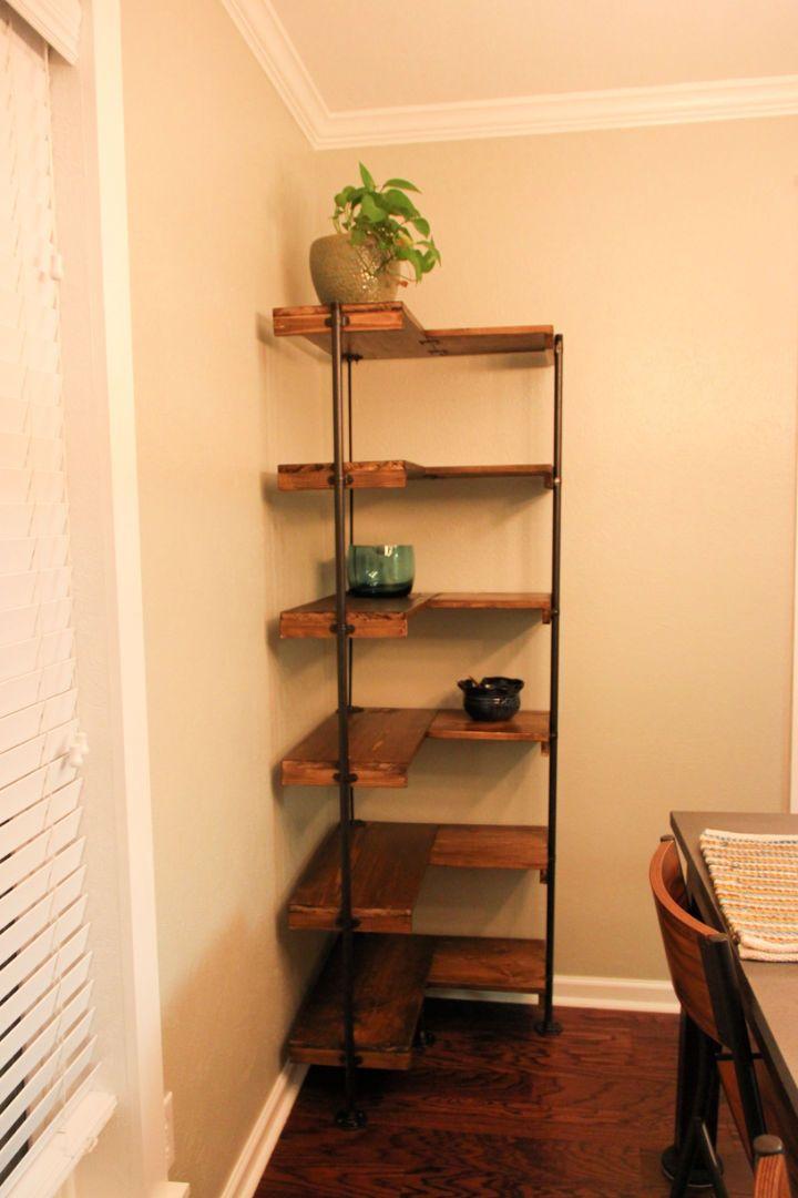 20 Diy Corner Shelf Ideas With Instructions And Free Plans In 2020 Corner Shelf Design Dining Room Corner Dining Room Shelves