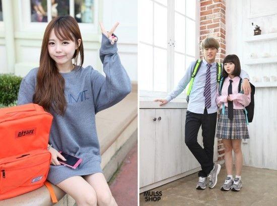 オルチャンの必須アイテム☆-リュックの通学スタイル コーデ