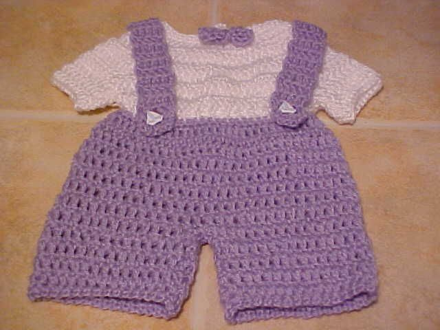 Crochet Pattern For Owl Baby Bunting : Preemie Overalls for Baby Jans Pinterest