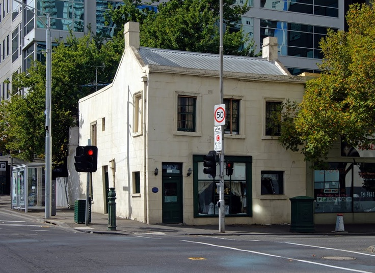 Russells Old Corner Shop and Luncheon Room (2011). Built as a shop and dwelling in 1850-1, this has been owned by a single family since 1899. The present business was established in the 1930s. Via Muzza from McCrae