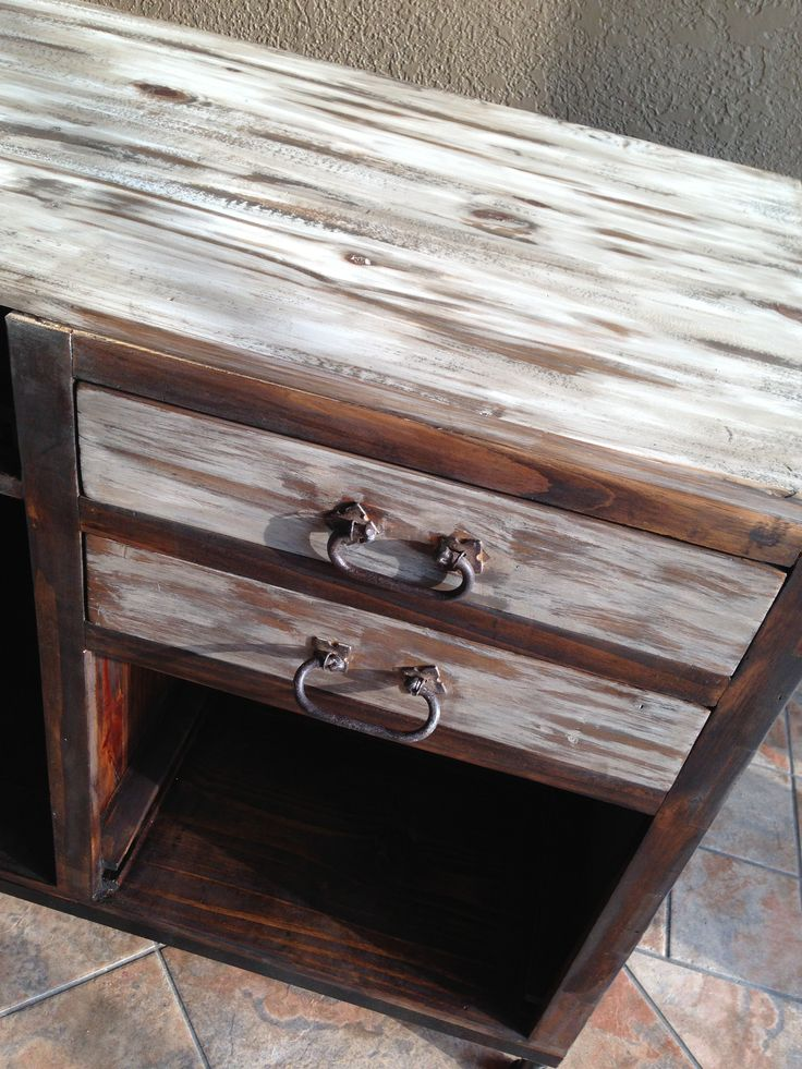 Painted Me A Rustic Distressed Desk : )