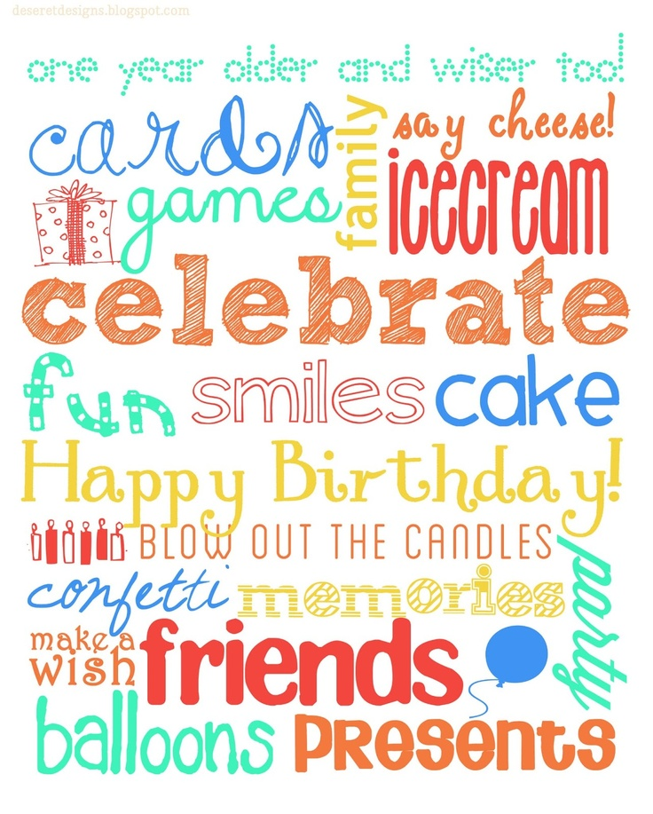 Deseret Designs: Birthday Subway Art