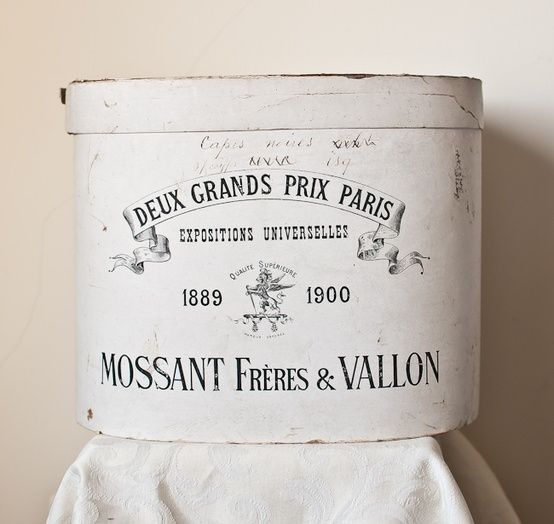c. 1900 French Hat Box