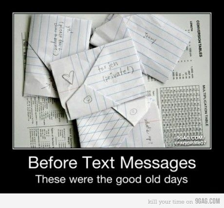 I miss getting notes like this!