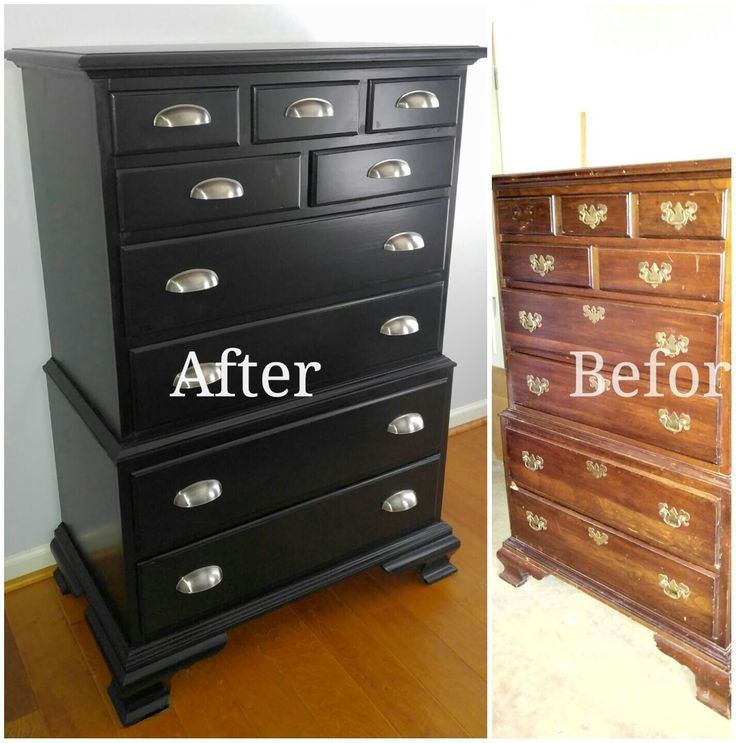 Before And After Rustoleum Furniture Transformation