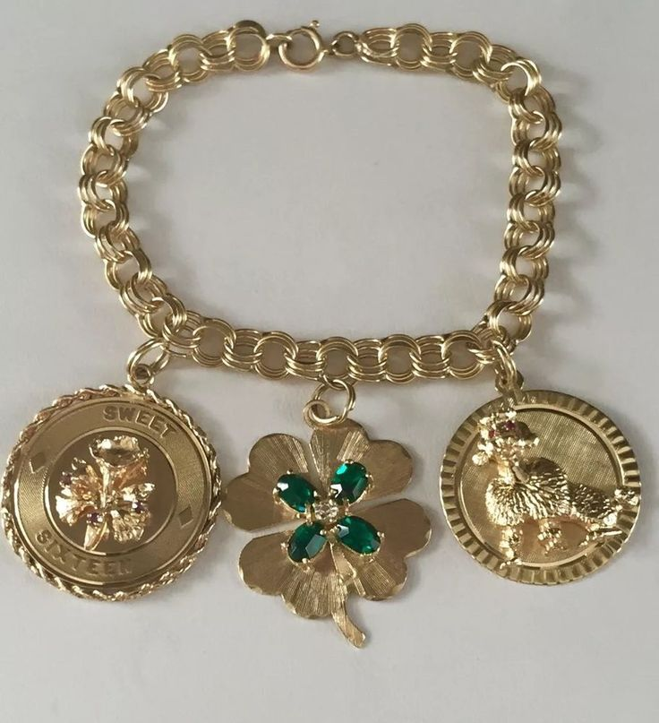 Vintage 14k Gold Charm Bracelet: 1000+ Images About Charms On Pinterest
