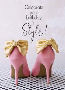 Verjaardagskaart vrouw - celebrate-your-birthday-in-style