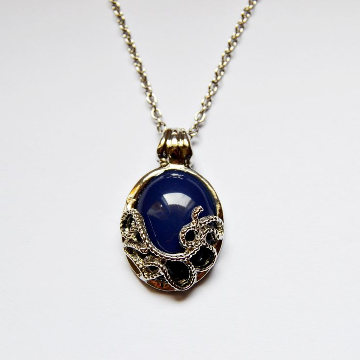 Vampire Diaries inspired Katherine Necklace / Anti Sunlight / Silver Lapis Lazuli Fantasy Jewelry Pendant / With free Giftbag by MagiqueChic on Etsy