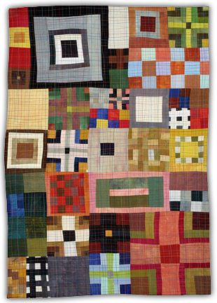 """jbe200quilts:  9 Patch Color Study  2007, 28"""" x 20"""" Eleanor McCain Art Quilts"""
