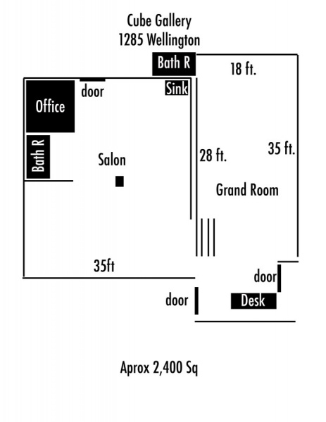 Cube Gallery - 2400 sq ft
