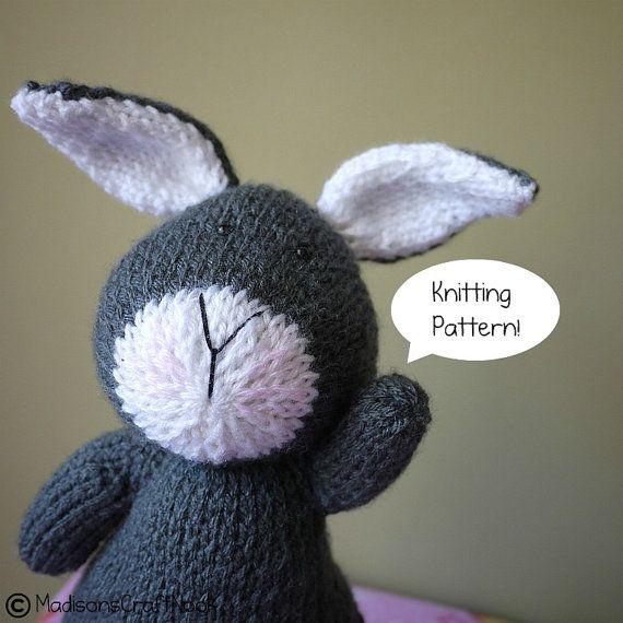 Maxine the rabbit by madisonscraftnook on Etsy, $5.99Etsy Knits, Crafts Ideas, Knitting Patterns, Knits Pattern, Amigurumi Pattern, Madisonscraftnook, Rabbit Knits, Crochet Knits Toys, Knits Amigurumi
