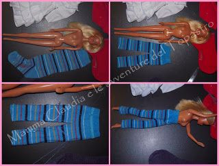 Mamma Claudia and the Topastro adventures: Clothes for Barbie with old socks