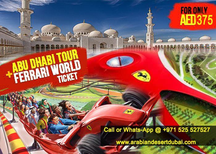 #abudhabicitytour with #ferrariworldtour at http://www.arabiandesertdubai.com/abu-dhabi-city-tour-from-dubai/