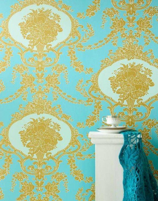 17 meilleures id es propos de papier peint turquoise sur. Black Bedroom Furniture Sets. Home Design Ideas