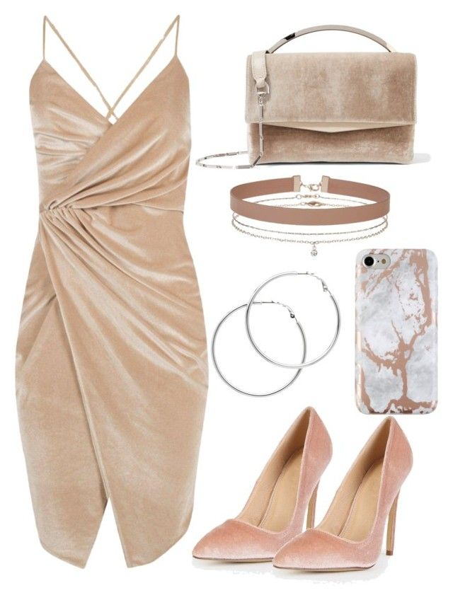 """""""Velvet Collection : Nude"""" by bokwitmebrunz ❤ liked on Polyvore featuring Boohoo, Eddie Borgo, Miss Selfridge and Melissa Odabash"""