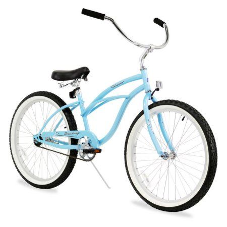 24 inch Firmstrong Urban Lady Single Speed Women's Beach Cruiser Bike, Baby Blue