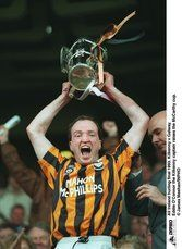 All Ireland hurling final 1993. Eddie O\'Connor the Kilkenny captain raises the McCarthy cup.. © James Meehan/INPHO