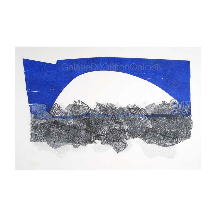 ➕ MARIA BONOMI ( née en 1935)  LE PONT, 2011 Xylogravure/Xylographie  Bois de bout & bois de fil 179 x 267cm   Signée & numérotée 3/12