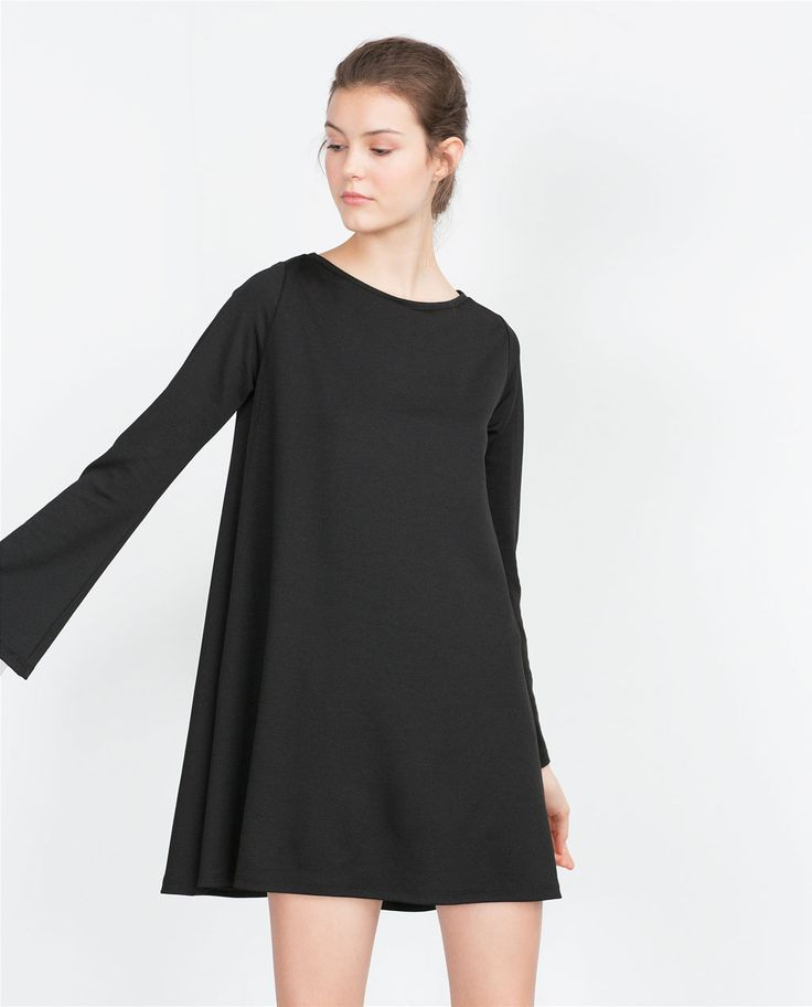 Image 3 of DRESS WITH BELL SLEEVES from Zara