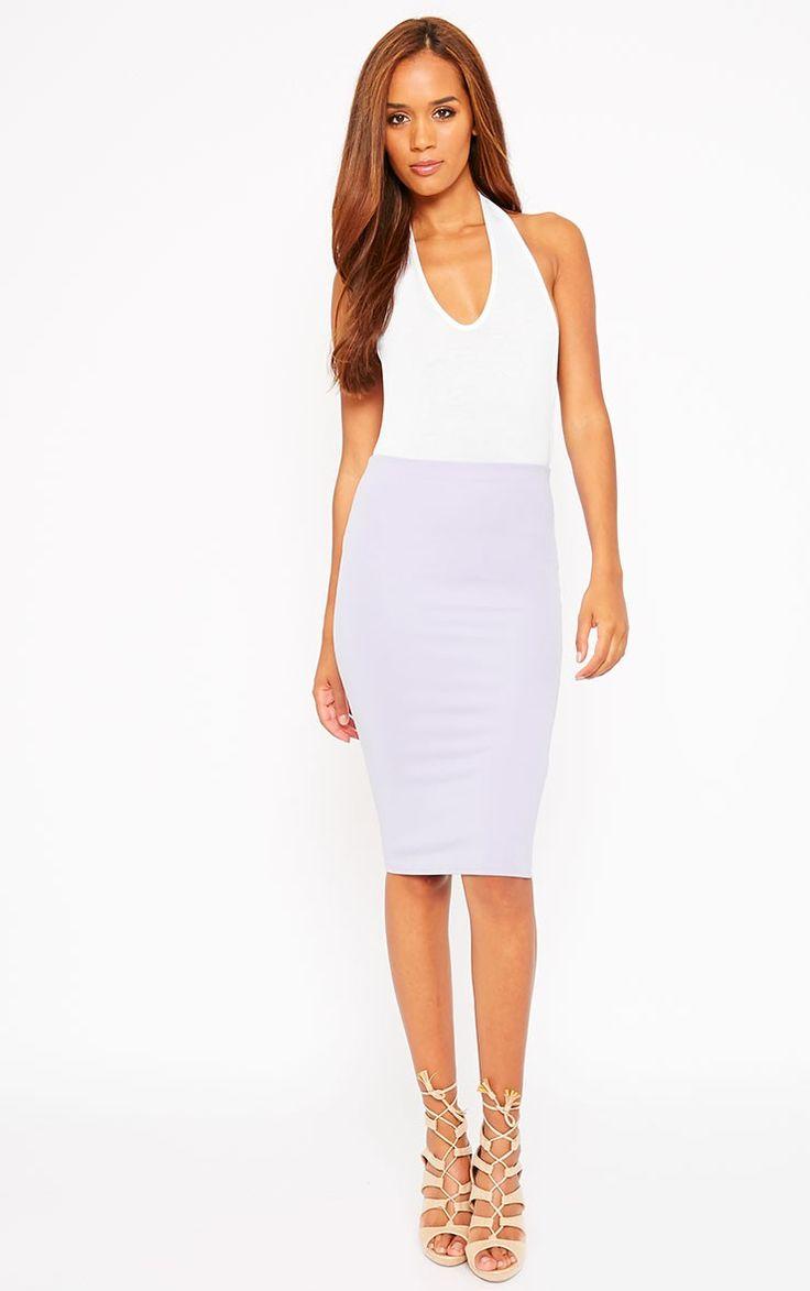 Winnie Lilac Scuba Midi Skirt £8.00 #PLTSummerStyleMe