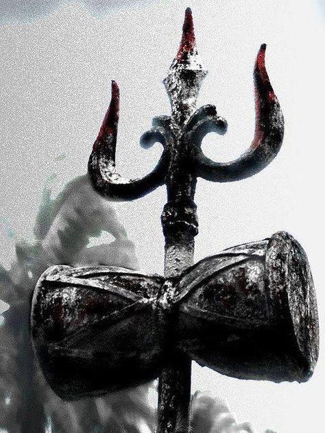 Trishula la lancia di SHIVA Damaru per produrre suoni spirituali