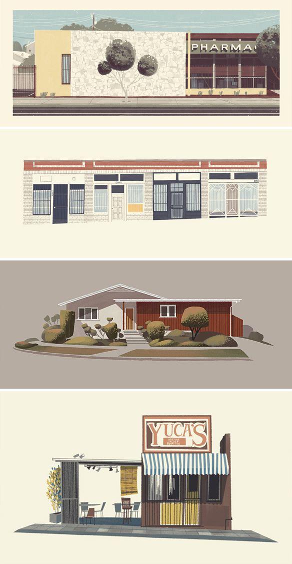 By Chris Turnham (Illustrator and Printmaker) [Art - Digital - Architecture - Background - Landscape - Facade]