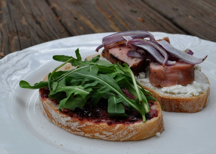 Maple Macaroni: Blackberry-Goat Cheese Pork Tenderloin Sandwiches