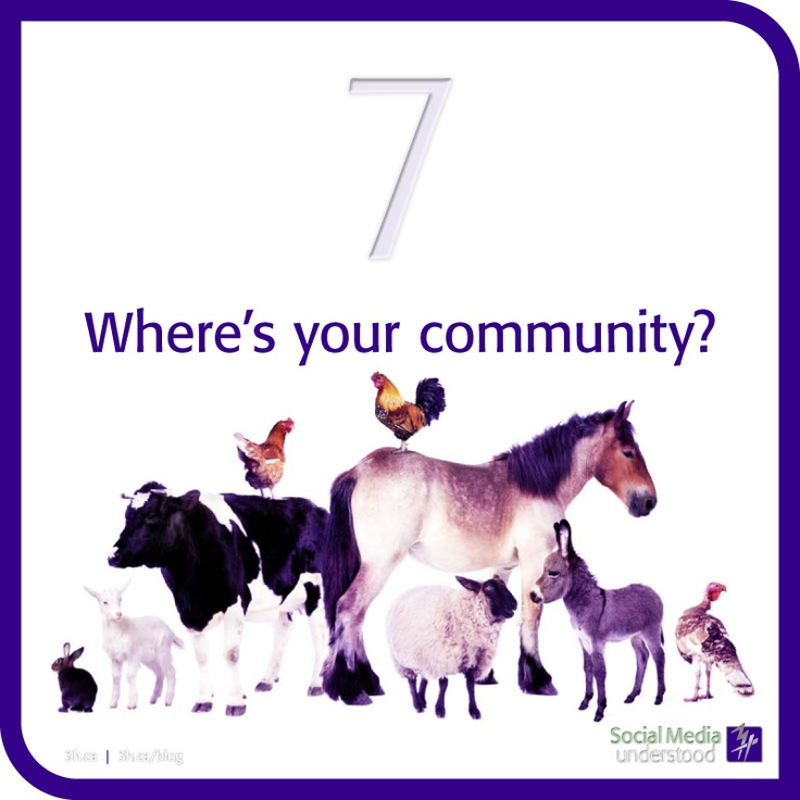 Where's your community? That's a good question because it's important to have a place where you can talk, engage and develop online relationships. This takes time to build, but it's worth it. Download the 3H eBook Social Media Understood: http://3h.ca/ebook_social_media.php