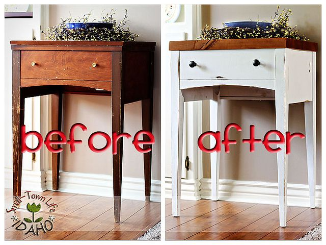 I actually garbage picked an old sewing table similar to this and am planning on refinishing it!
