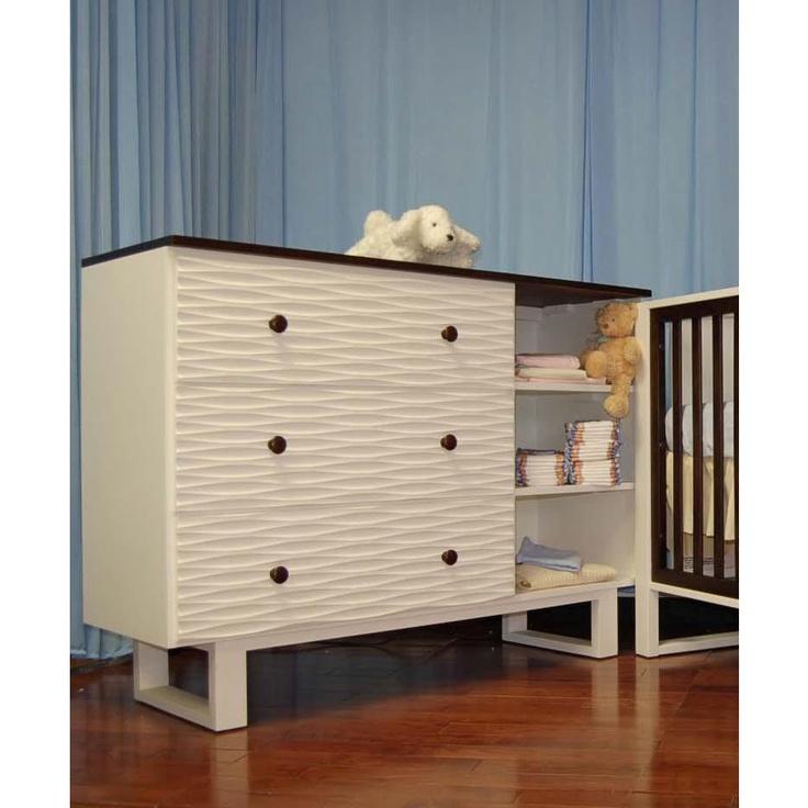 Eden Baby Furniture Moderno Dresser In White / Espresso $473   Waves?