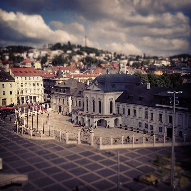 A miniature of the Presidential Palace in Bratislava...or is it real? :) (by vikinka1983)