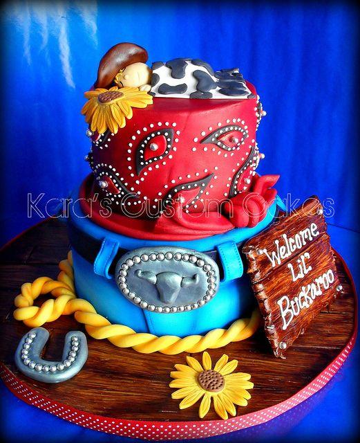 Lil' Buckaroo Baby Shower Cake