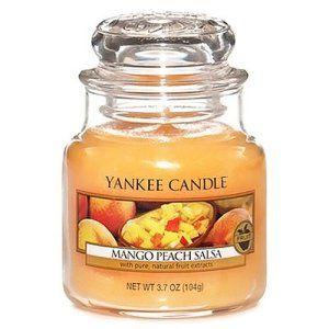 Yankee Candle 1114683E Bougie senteur Mangue Pêche Cire Orange 6,3 x 6,0 x 7,1 cm: Tweet Mangue et pêche (Mango Peach Salsa) – Sucrées et…