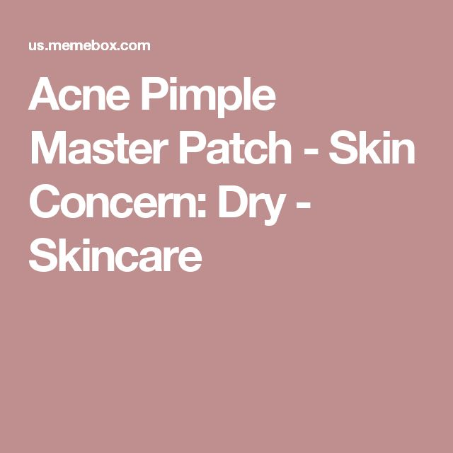 Acne Pimple Master Patch - Skin Concern: Dry - Skincare