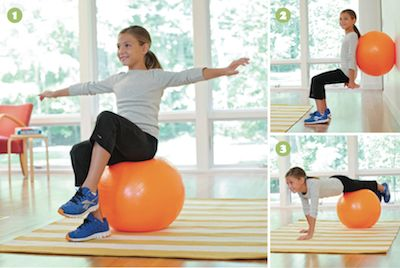 Ball exercises for kids I can get one for my kiddos and they can join the fun! Lol