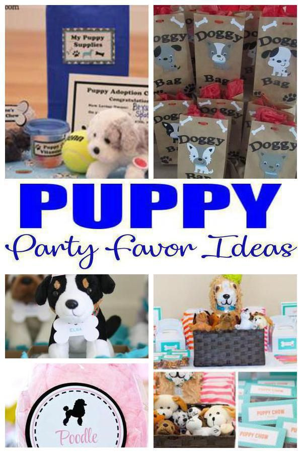 Puppy Party Favor Ideas
