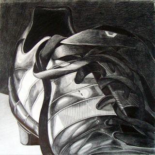 one of my soccer cleats by ~wilderflower on deviantART