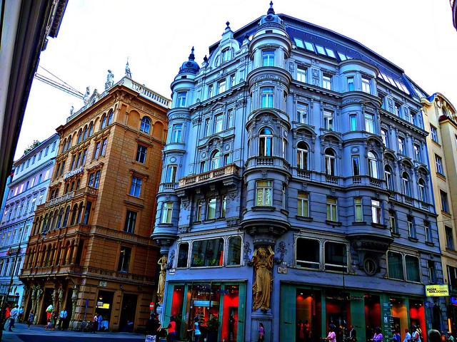 Feeling blue somewhere in Vienna.