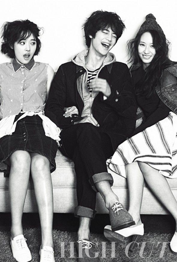 Minho (SHINee) & Sulli (f(x)) & Krystal (f(x)) for High Cut Vol. 94