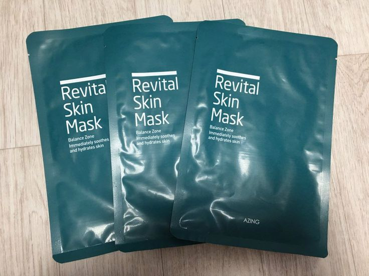 "Korea Cosmetic 3 Pcs of ""Revital Skin Mask"" Dead Sea Mineral Moisturising Mask 